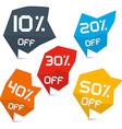 Discount Web Labels Set vector image