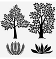 Trees and Bushes - vector image vector image