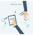 Flat header Online news vector image