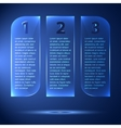 Abstract glossy and glowing options steps 1 2 3 vector image