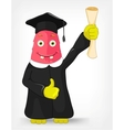 Funny Monster Student vector image vector image