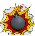 exploding bomb pop art vector image