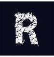 Grunge letter R vector image