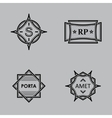 Monograms vector image