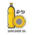 Sunflower oil image vector image