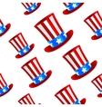 Uncle Sam hat background vector image