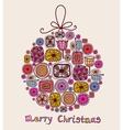 Christmas ball in cartoon style vector image