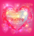 Happy Valentines Day Card Design Ornamental heart vector image vector image