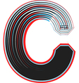 abstract font letter c vector image vector image