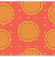 pastry dough seamless pattern for pizza or pie vector image