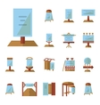 Advertising boards flat icons vector image