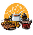 cookie jam and tea vector image vector image