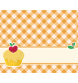 abstract brown-yellow checkered background decorat vector image