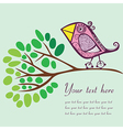Bird on a branch with place for your text vector image