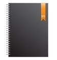 black notebook and gold ribbon vector image
