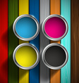 CMYK colors design vector image