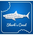 Flat paper style shark vector image