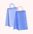 flat shading style icon paper bags vector image