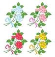 flowers rose set vector image