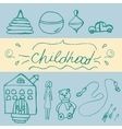 Hand draw icon of baby toy vector image