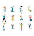 Jumping People Set vector image