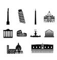 Landmarks of Italy set vector image