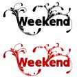 weekend vector image