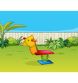A horse playing equipment vector image vector image