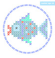 cross stitch fish vector image