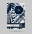 denim brochure design business modern layout vector image