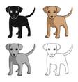 puppy labradoranimals single icon in cartoon vector image
