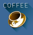 coffee graphic in multiple colors vector image vector image