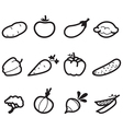 Icons vegetables vector image vector image