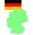 6139 germany map and flag vector image vector image
