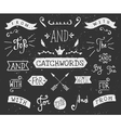 vintage style chalkboard catchwords and elements vector image