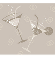 wedding glass vector image vector image