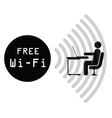 Free WiFi Sign vector image