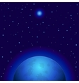 space planet and star vector image