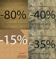 40 15 35 icon Set of percent discount on abstract vector image