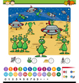 numbers game cartoon vector image