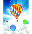 hot air ballooning vector image
