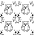 Seamless background pattern of a cute owl vector image vector image