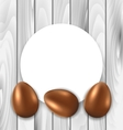 Celebration Card with Easter Chocolate Eggs vector image