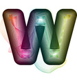 Abstract colorful Letter W vector image