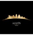 Austin Texas city skyline silhouette vector image