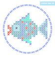 Cross stitch fish vector image