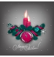 Elegant Christmas background with balls vector image