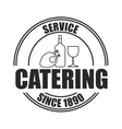 icon catering service food design vector image