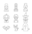 line icon halloween vector image