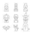 line icon halloween vector image